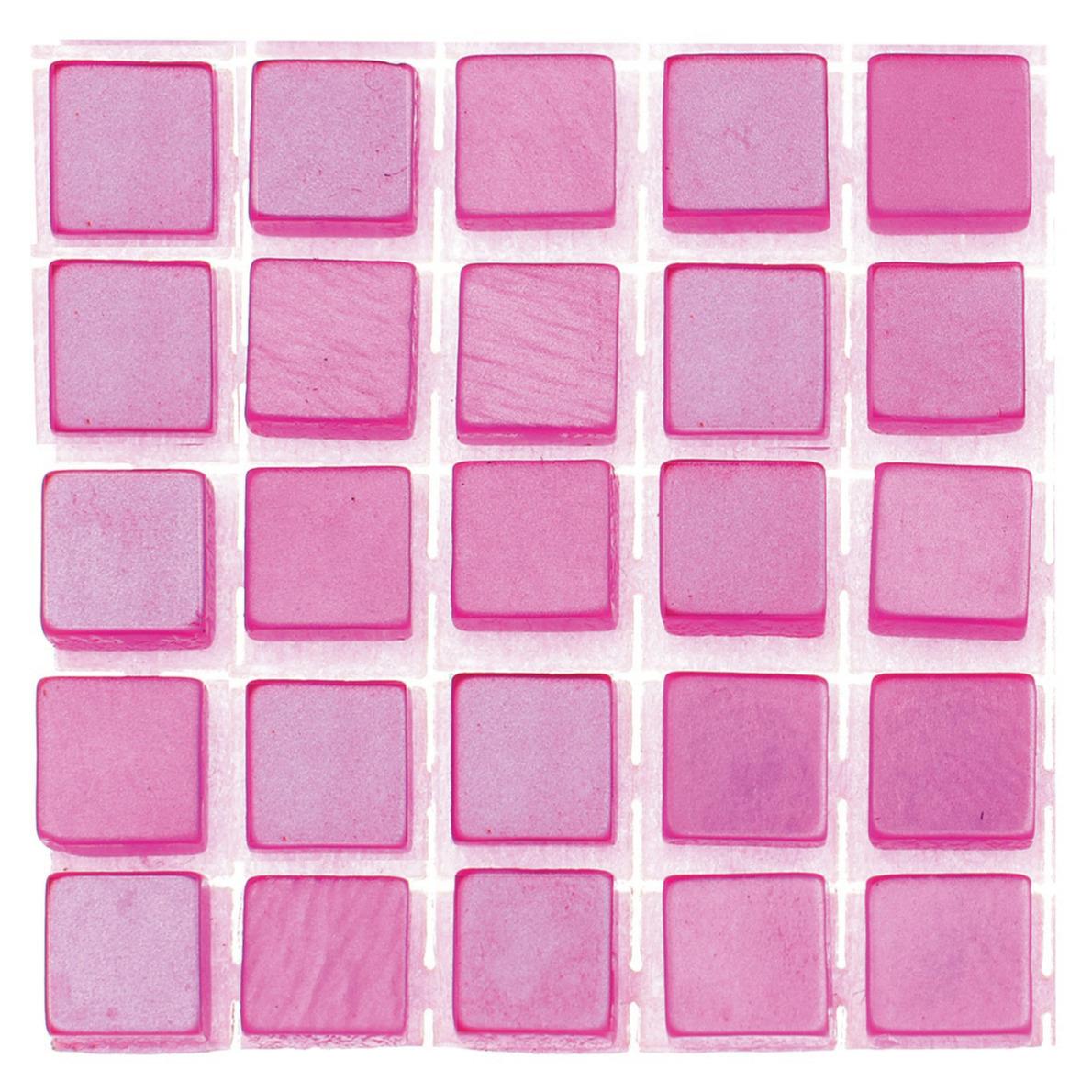 119x stuks mozaieken maken steentjes-tegels kleur roze 5 x 5 x 2 mm