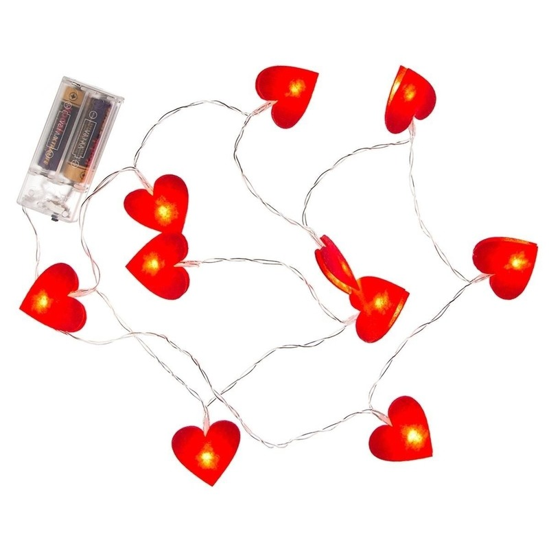 2x Hartjesslinger met verlichting 120 cm