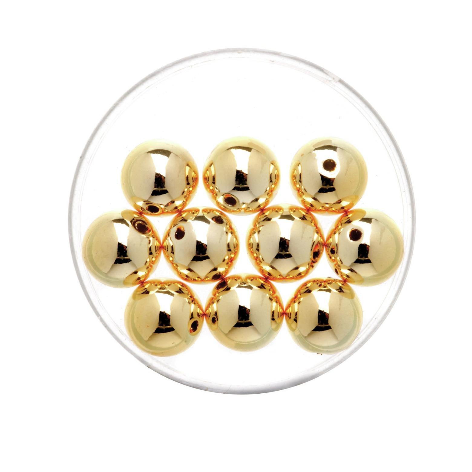 35x stuks metallic sieraden maken kralen in het goud van 6 mm