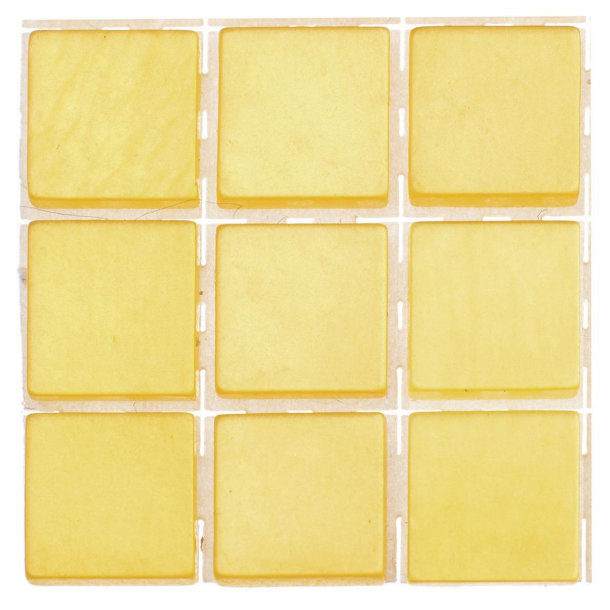 63x stuks mozaieken maken steentjes-tegels kleur geel 10 x 10 x 2 mm