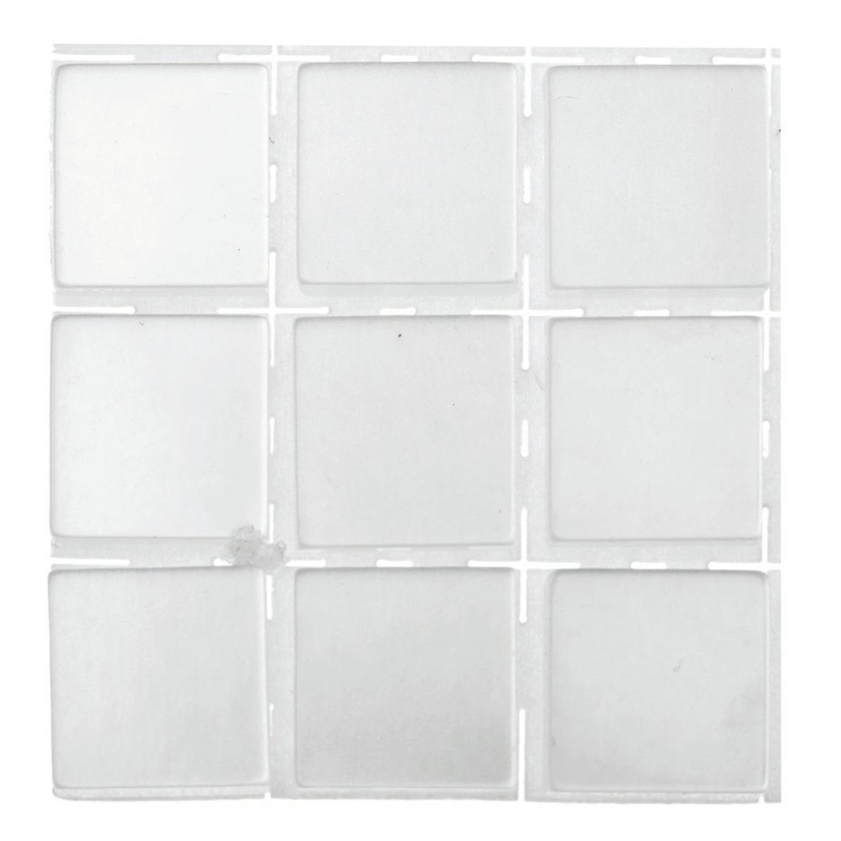 63x stuks mozaieken maken steentjes-tegels kleur wit 10 x 10 x 2 mm