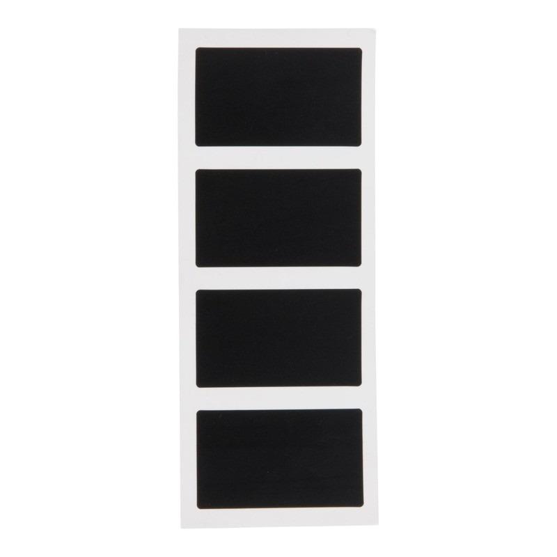 8x Voedsel labels rectangulare krijtbordstickers 8 cm