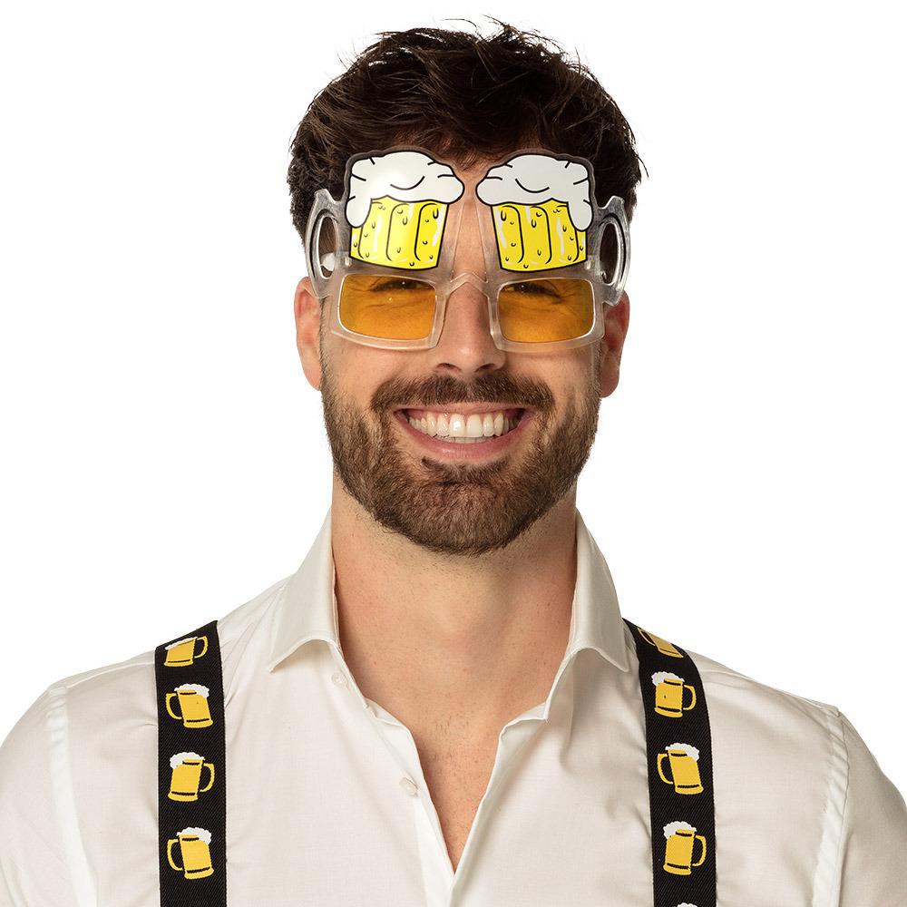 Bril thema fun party bril model bierglas