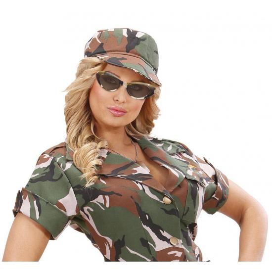 Camouflage leger brillen ovaal