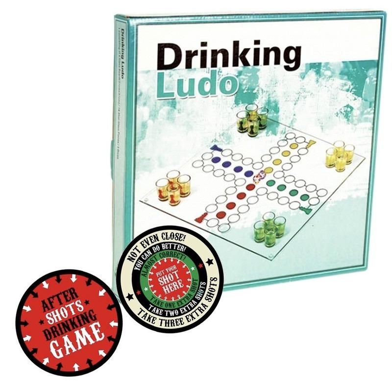 Drank bordspel met pionnen feest artikelen met plaats je shotglas viltjes