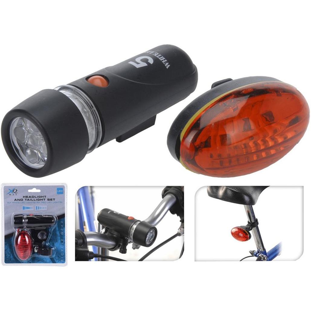Fietsverlichting set kop en achterlamp LED