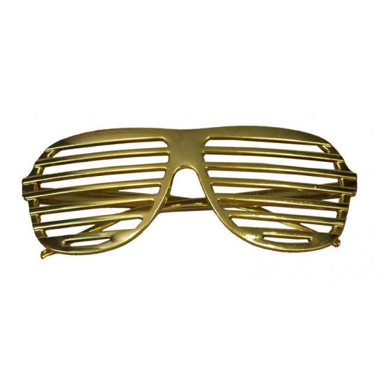 Gouden lamellen brillen