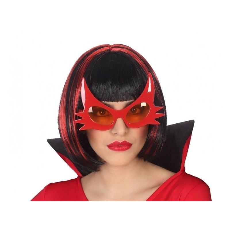 Horror duivel verkleed bril rood voor volwassenen