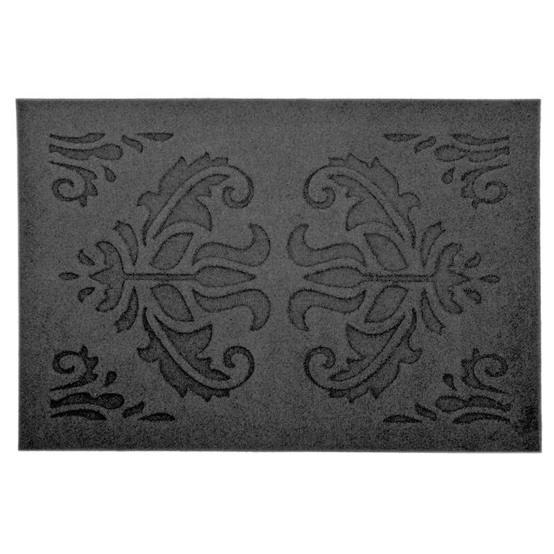 Klassieke print deurmat rubber 60 x 40 cm