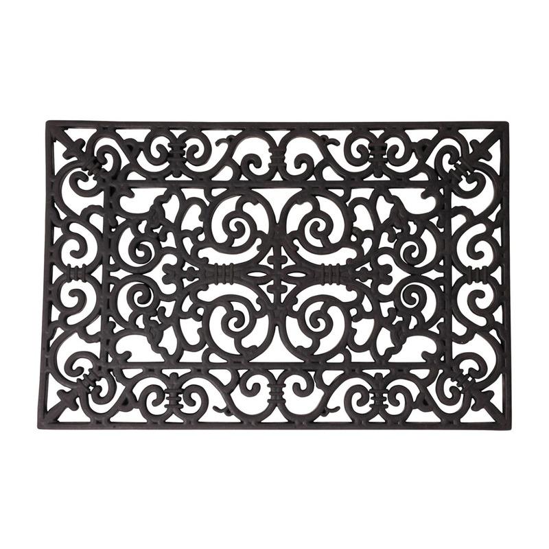 Klassieke print deurmat rubber 70 x 40 cm