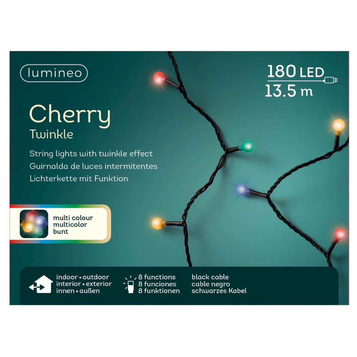 LED twinkelende buitenverlichting kleur 180 lampjes