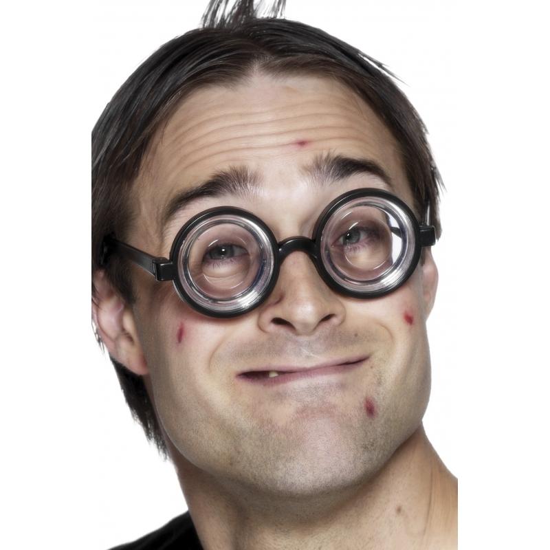 Nerdy verkleed bril met jampot glazen