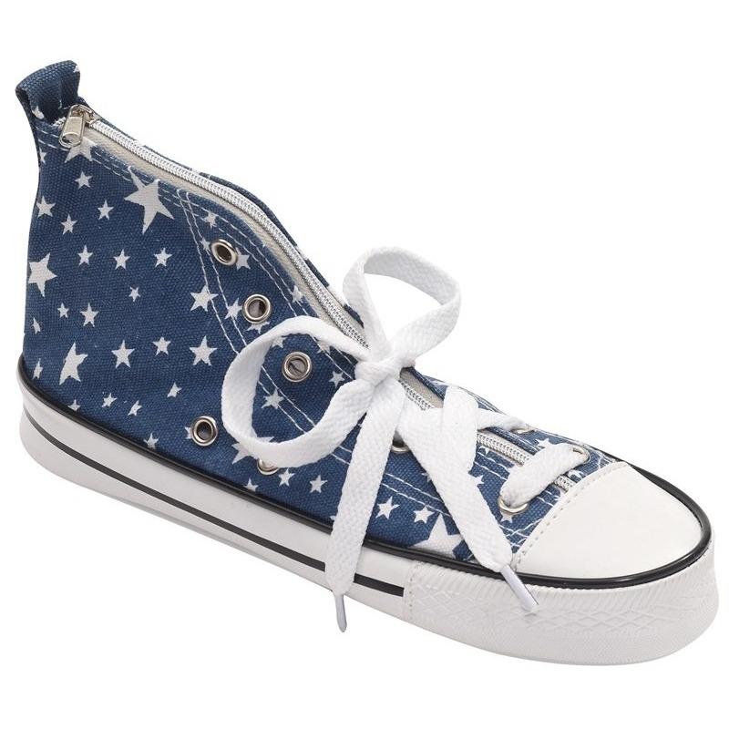 Schooletui sneakervorm blauw 24,5 cm