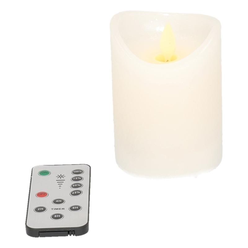 Set van 4 witte LED kaarsen-stompkaarsen met afstandsbediening