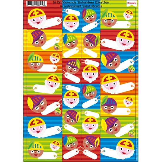 Sinterklaas cadeau etiketten 26 stuks Cadeau /sinterklaaskado-spullen/sinterklaas-kado-versiering