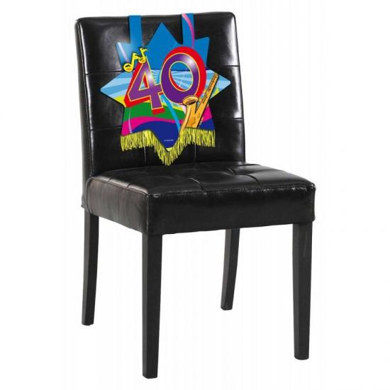 stoel 40 jaar Verjaardags stoel decoratie 40 jaar | Sinterklaas versiering  stoel 40 jaar