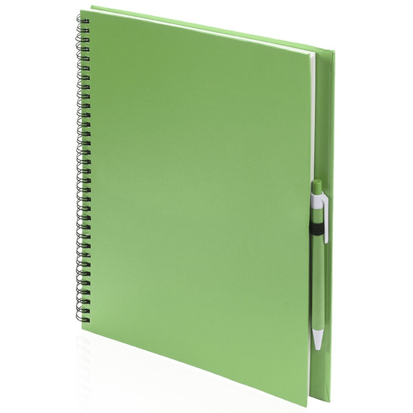 Tekeningen maken schetsboek A4 groene kaft