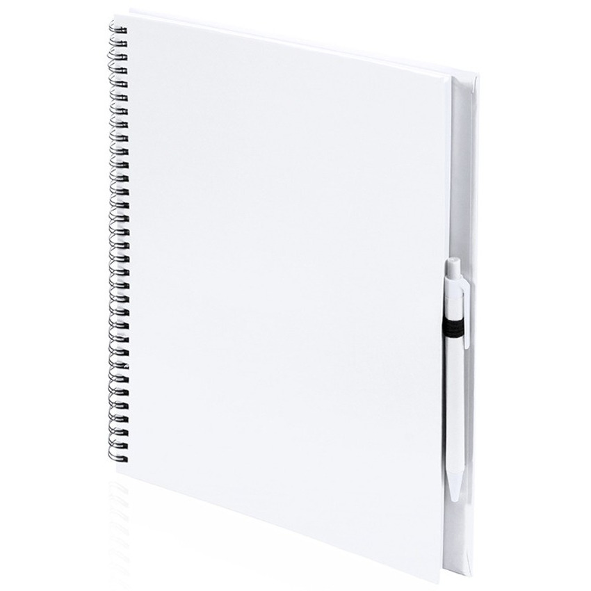 Tekeningen maken schetsboek A4 witte kaft