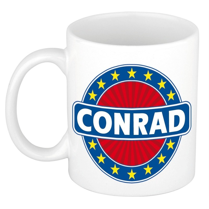 Voornaam Conrad koffie-thee mok of beker