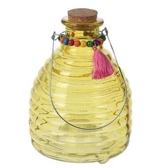 Wespenvanger van geel glas 18 cm